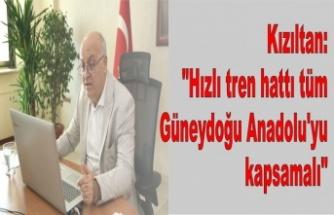 """Kızıltan: """"Hızlı tren hattı tüm Güneydoğu Anadolu'yu kapsamalı"""""""