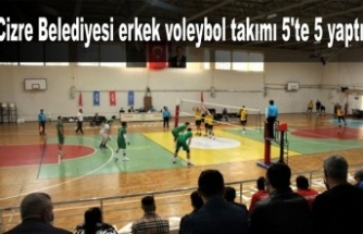 Cizre Belediyesi erkek voleybol takımı 5'te 5 yaptı