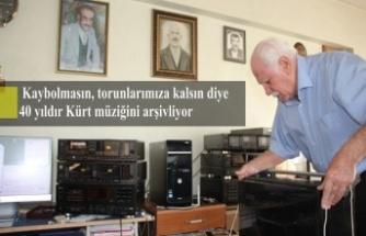 Kaybolmasın, torunlarımıza kalsın diye 40 yıldır Kürt müziğini arşivliyor