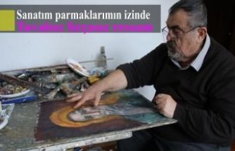 Sanatım parmaklarımın izinde: Tuvalsız fırçasız ressam