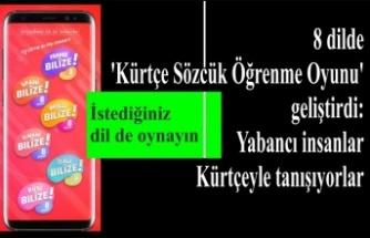 8 dilde 'Kürtçe Sözcük Öğrenme Oyunu'