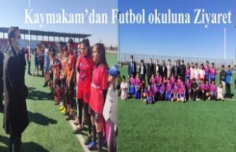 Kaymakam'dan Futbol okuluna Ziyaret