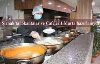 Şırnak'ta lokantalar ve Cafeler 1 Marta hazırlanıyor
