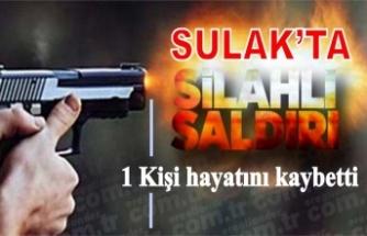 Sulak'ta silahlı saldırı 1 kişi hayatını kaybetti