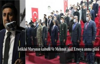 İstiklal Marşının kabulü ve Mehmet Akif Ersoyu anma günü