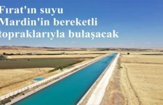 Mardin ovası fırat suyuyla buluşuyor