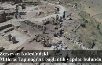 Zerzevan Kalesi'ndeki Mithras Tapınağı'na bağlantılı yapılar bulundu