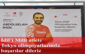 İdil'i milli atlet Abdulselam İmük'e Tokyo olimpiyatlarında başarılar