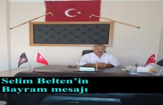 Selim Belten'in Bayram mesajı