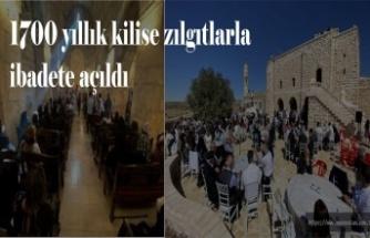 1700 yıllık kilise zılgıtlarla ibadete açıldı