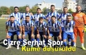 Cizre Serhat Spor şike gerekçesiyle küme düşürüldü!.