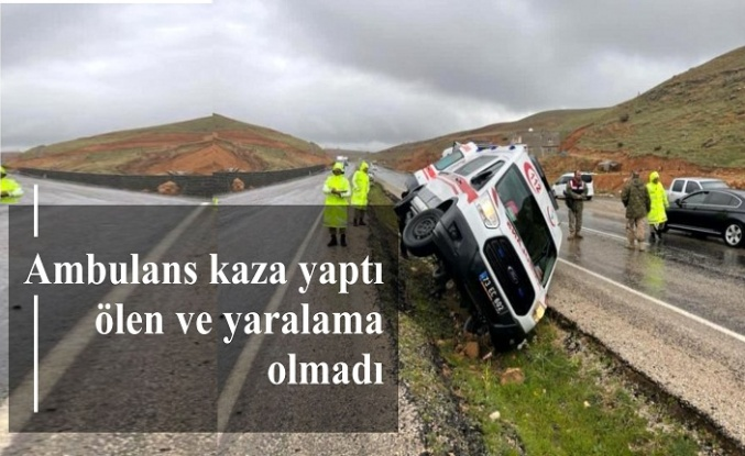Ambulans kaza yaptı