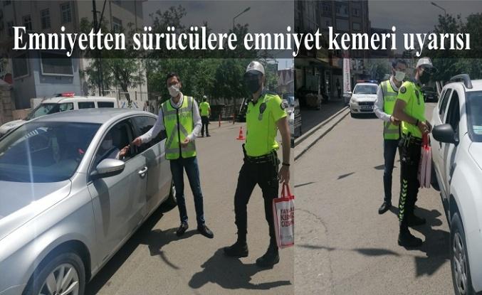 Emniyetten sürücülere emniyet kemeri uyarısı