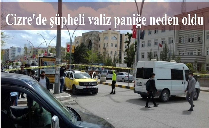 Cizre'de şüpheli valiz paniğe neden oldu